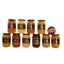 8 pots de 250 Gr de miel à choisir, soit 2 Kg Poids net