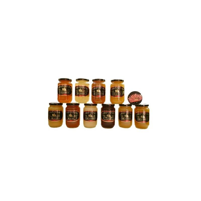 6 pots verre miels 500 Gr